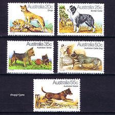 1980 - Australia - Australian Dogs - set of 5 - MNH Dingo Kelpie Terrier Cattle