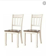Signature Design by Ashley D335-01 Woodanville dining-chairs, White Ladder Back