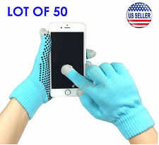 Wholesale Lot of 50 Touch Screen Gloves Smartphone Tablet Pad US Stock (BLUE)