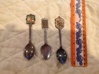 Souvenir Spoons Some Sterling San Francisco Bridge Hummel Statue Of Liberty Lot