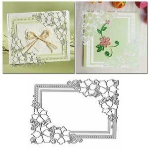 Frame Border Flower Metal Cutting Dies Stencil DIY Embossing . Scrapbooking H7I0