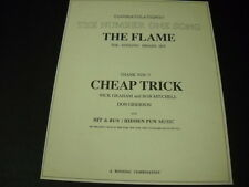 Cheap Trick The Number One Song The Flame 1988 Promo Poster Ad mint condition