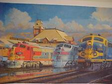 """7330 Railroad Art Winfield SP /""""Krauss//Maffei at Tehachapi/"""" 18x24/"""" s//n"""