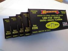 """New Arrow 206 Lot Of (5) Packs 3/8"""" T20 Staple Gun 5000 Staples Usa"""