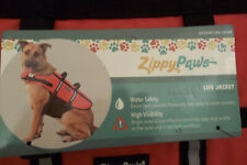 NEW Zippy Paws Dog Life Jacket Sz Flotation Device Reflective Trim