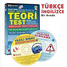 Ingiltere ARABA EHLIYET SINAVI, THEORY TEST Turkce - Ingilizce Hazirlik DVD Seti