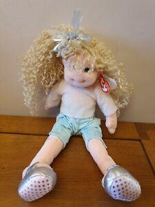 "2001 Ty Beanie Bopper Sassy Star Doll Plush - 12"" Inches Tall NWT"
