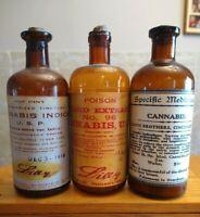 Vintage Medicine Hand Crafted Bottle, 3 Cannabis (Lilly), Specific Medicine