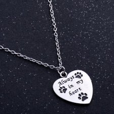 Cute Fashion Jewelry Dog Pet Paws Always In My Heart Necklace Pendant Charm New
