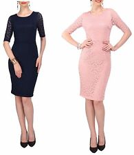 Women's French Lace Shift Dress Vintage 1950s Wiggle Pencil Skirt Retro Dresses