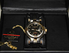 ANDRE LE MARQUAND SEABEE MENS SWISS MADE  ETA QUARTZ WATCH NEW NOS TWO TONE 16-3