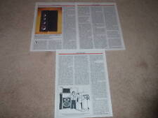 Acoustic Research TSW910 Speaker Review, 1987, 3 pgs