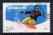 STAMP / TIMBRE FRANCE OBLITERE N° 3699 SPORT DE GLISSE / SNOWBOARD