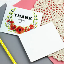 50Pcs Rectangle Thank You Card Garland Appreciation Small Greeting Gift Supplies