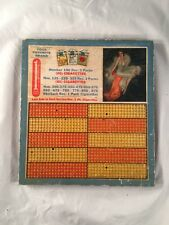 1 Cent Pinup Girl Tobacco Cigarettes Punchboard Punch Board Game Antique Old
