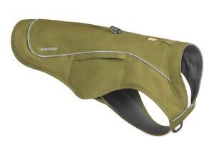 """Ruffwear Overcoat Fuse Jacket-Harness Combo Size Small 17-22"""" Cedar Green"""