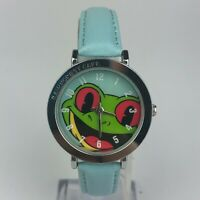 Rainforest Cafe Womens Frog Mascot Japan Movement Stainless Steel Back Watch