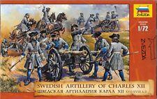 Zvezda Swedish Artillery of Charles XII (XVII-XVIII Centuries) 1/72 Scale
