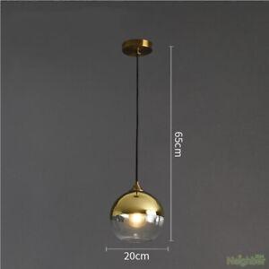 Modern Gold Silver Mirror glass ball Chandelier LED Pendant lamp Ceiling light