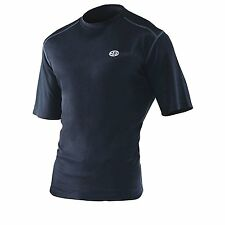 EDZ All Climate Season T-shirt Crew Neck Black Motorbike Motorcycle Clothing S