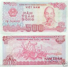 VIETNAM 500 DONG BANK NOTE UNCIRCULATED,ASIAN PAPER MONEY Currency 1988