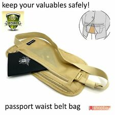 Travel Pouch Security Travel Passport Secret Waist Belt Bag Secure Wallet