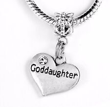 Goddaughter charm God daughter charm fits bracelet + necklace best jewelry gift