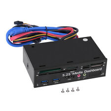 5.25 inch USB3.0/2.0 Port HD Audio PC Media Dashboard Front Panel Card Reader CO