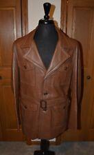 VTG Men's Deer Skin Jacket W.B. PLACE 44/46 Custom Western Pimp Brown NM