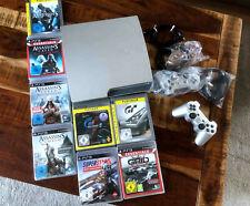 Sony PlayStation 3 Slimline 1TB mit 2 Controllern und 8 Spielen, Gran Turismo ua