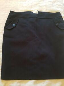 Babdolera Skirt designer buisness skirt knee length size UK 16 black