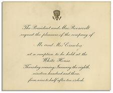 Theodore Roosevelt 1903 White House Invitation