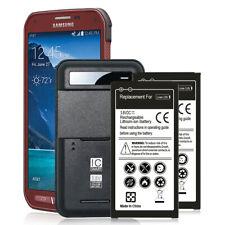 2Pcs 6500mAh Backup Battery + Charger For Samsung Galaxy S5 Active SM-G870A AT&T