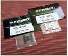 "2x Vintage Kyosho Mini-Z Megatech Hop-Up Fiber Soft ""H-Bar"" 1.8mm Silver & Black"