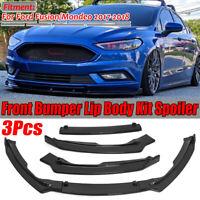 3PCS Carbon Fiber Look Front Bumper Lip Spoiler Splitter For Ford Mondeo
