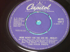 """The Four Preps – More Money For You And Me - Medl    EX+   7""""  LOVELY CONDITION"""