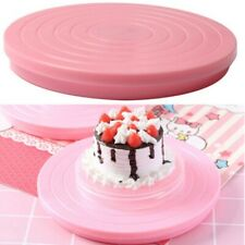 14cm Platform Revolving Decoration Rotating Cake Stand Baking Plate Turntable US