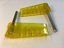 Williams Logo Pinball Clear Yellow Translucent Flipper Plastics Bats w/ Shafts
