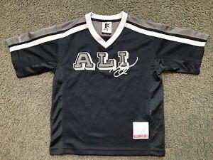 Vintage PLATINUM FUBU Muhammad Ali Jersey Shirt YOUTH XL 7 Sewn Authentic Boxing