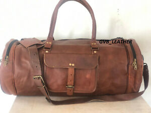 Bag Leather Travel Duffel Luggage Gym Outing Weekend Men Brown Handmade Holdall