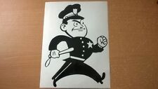 funny fun police man chase cops car sticker vinyl graphics decals race speed vw