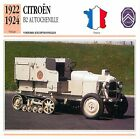Citroën B2 Autochenille 4 Cyl. 1922-1924 France CAR VOITURE CARTE CARD FICHE