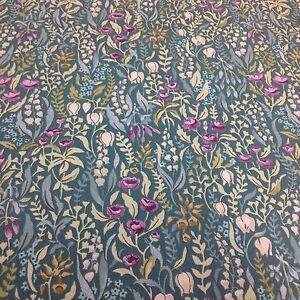 iliv SMD KELMSCOTT JADE Floral Cotton Fabric.Curtains/Upholstery/Craft/Cushions