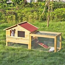 "62"" Wooden Chicken Coop Hen House Rabbit Hutch Poultry Wooden Cage with Run H9H3"