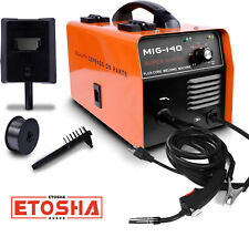 140 Mig Welder Ac Flux Core Wire Gasless Automatic Feed Welding Machine Withmask