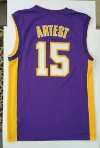 NBA Adidas Ron Artest Los Angeles Lakers Jersey 15 Mens Small S