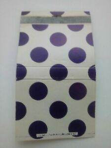Vintage Matchbook Purple Poka Dot