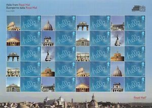 2009 Rome Italia Stamp Exhibition Full Smiler Sheet - Unmounted Mint.