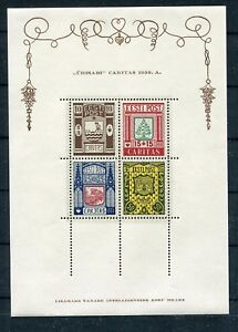 ESTONIA 1938 CHARITY SOUVENIR SHEET SCOTT B39a PERFECT MNH