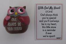 u Owl always be your friend WITH OWL MY HEART figurine stone Ganz friendship